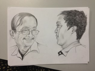 Part of a large portrait commission for a local girl. She wanted a series of portraits of her teachers for a yearbook.