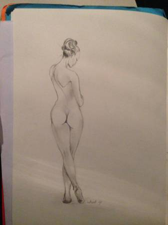 A woman from my head - studying female proportions